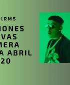 Canciones nuevas primera semana abril 2020
