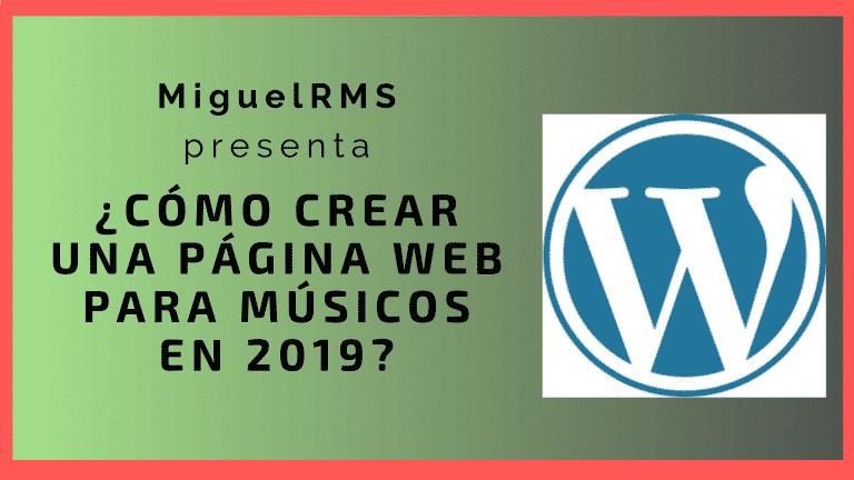 Crear páginas web para músicos