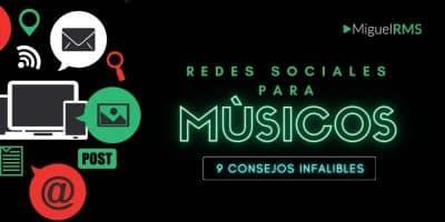 redes sociales musico